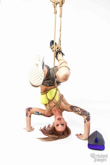 Girl break dancing in rope