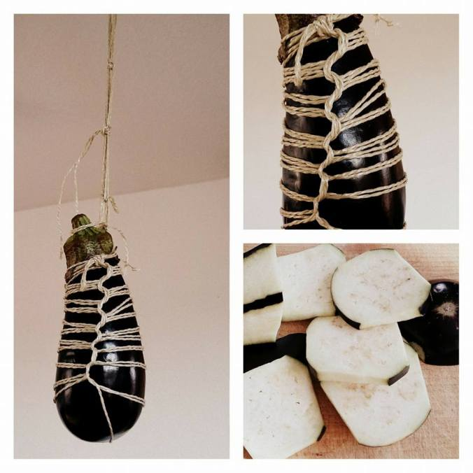 Eggplant suspended rope