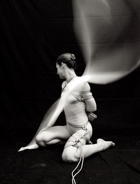 Black and white woman in rope