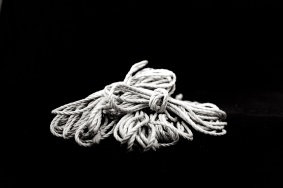 Rope bundled black and white